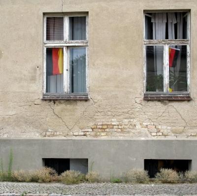 Fassade eines alten Hauses in Werder an der Havel