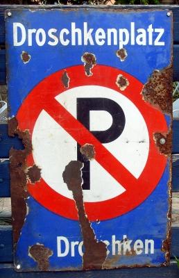 Kein Parkplatz für Autos!
