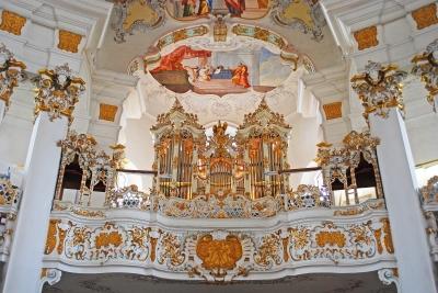 Orgel in der Wieskirche bei Steingaden