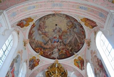 Deckengemälde über dem Altar,
