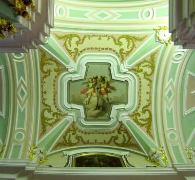 Deckengemälde in der Peter-Paul-Kathedrale