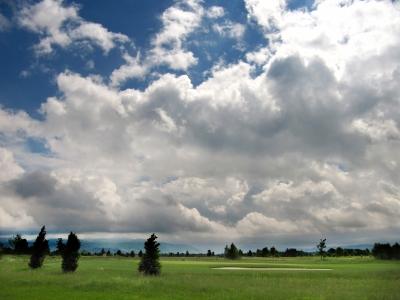 Wolkenhimmel im Rheintal bei Appenweier