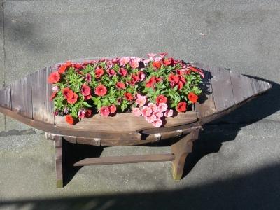 Boot mit Blumen