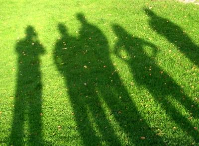 Schattenspiele beim Rasensport