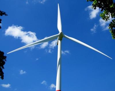 Dreiblattrotor eines Windrades