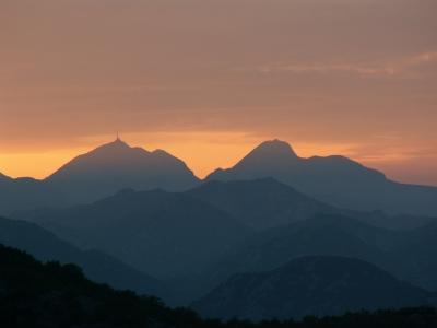 Die Schwarzen Berge von Montenegro