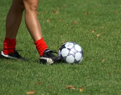 Fußballer mit roten Socken 2