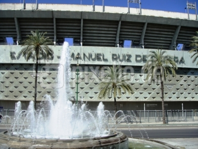 Das Fussballstadion von Sevilla