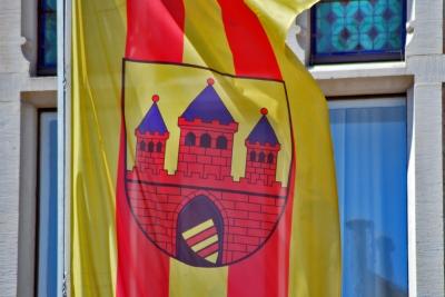 Wappen der Stadt Oldenburg - Flagge