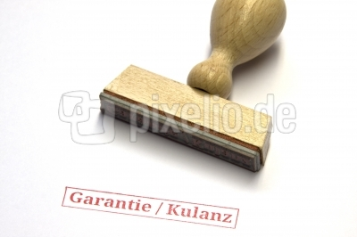 Garantie Kulanz Stempel