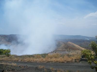Krater Santiago in Nicaragua