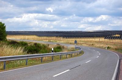 Solarfarm in der Eifel