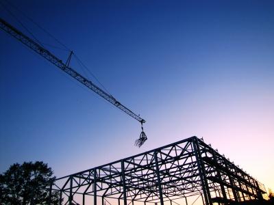 Richtfest auf der Baustelle