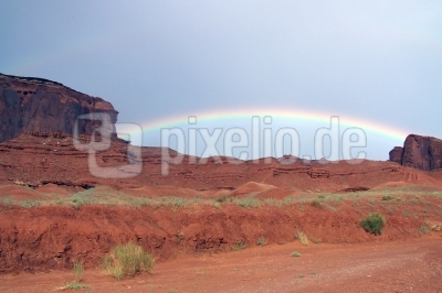 Rainbow im Monument Valley 2 Arizona/Utah