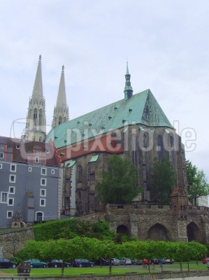 Görlitz - Kirche St. Peter und Paul sowie Weidhaus auf dem Kirchberg