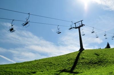 Skilift im Sommer