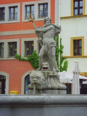 Görlitz – Neptunbrunnen am Untermarkt (Barock)