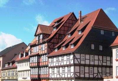 Fachwerkhäuser am Markt in Quedlinburg
