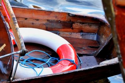 Rettungsring im Ruderboot