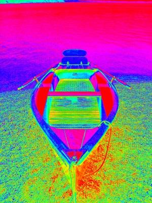 Urlaub im Regenbogen-Boot
