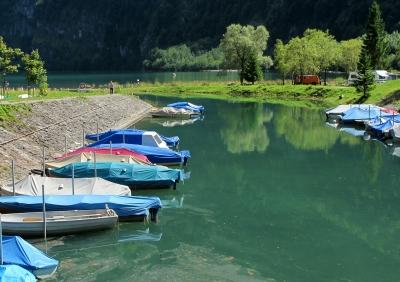 Bootshafen am Klöntalersee