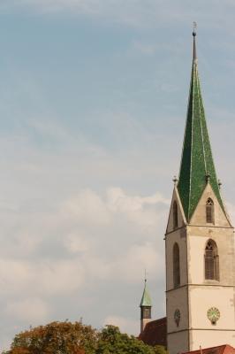 Kirchenturm in Rottenburg