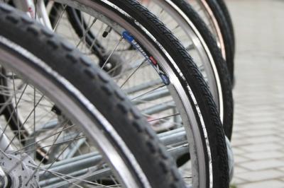 Fahrrad Detail Vorderräder