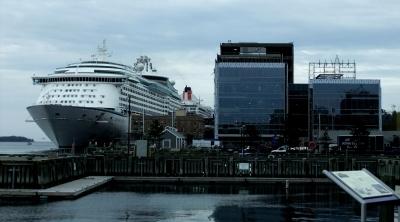 Queen Mary 2 im Hafen von Halifax