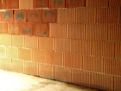 Ziegelsteinmauerwand