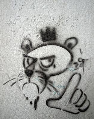 Spraybild an der Wand