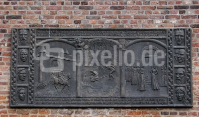 Xanten, Relieff der Siegfried-Saga