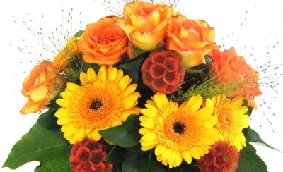 "Blumengruß ""Herbstfarben"""