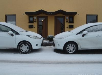 2 Fiestas im Schnee