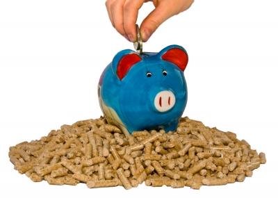 Sparen mit Holzpellets
