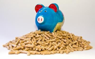 Sparschwein auf Pellets