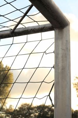 Fußballtorausschnitt