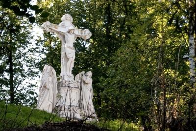 Die Kreuzigungsgruppe in Oberammergau