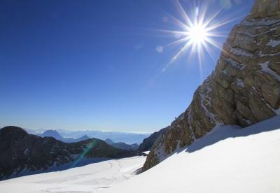 Sonne am Dachstein