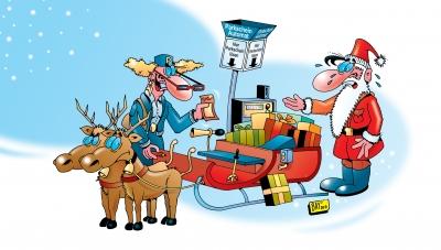 Weihnachtsmann und Politesse