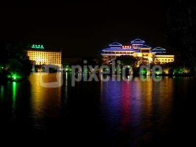 Abend in Guilin (China)