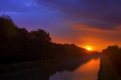 Sommermorgen am Kanal