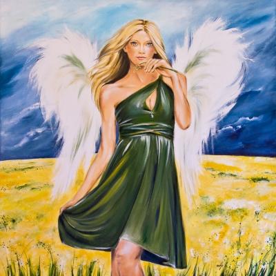 Angel of summer storm