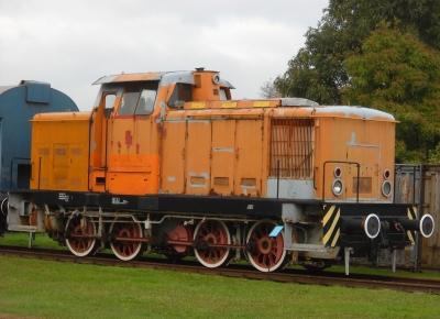 Gramzow/Uckermark - Museums-Diesellok (V 60 der DR)