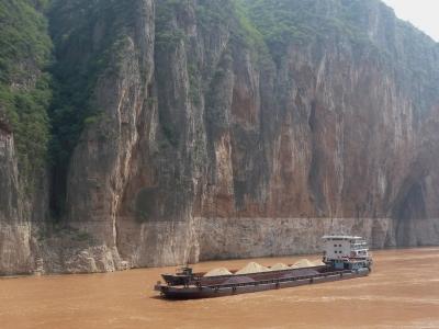 Schiffe auf dem Yangtse (China) 1