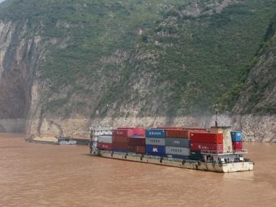 Schiffe auf dem Yangtse (China) 2