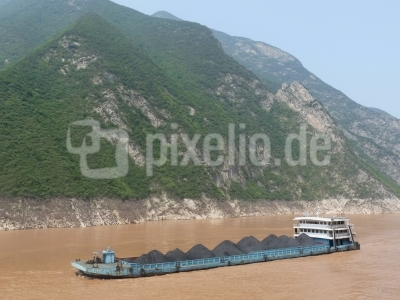 Schiffe auf dem Yangtse (China) 3
