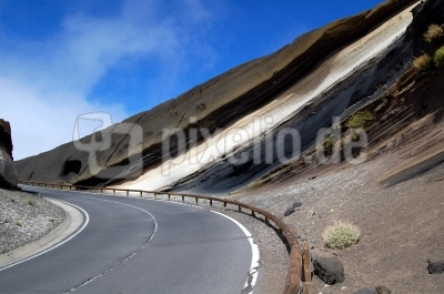 Lavaschichten im Teide Nationalpark