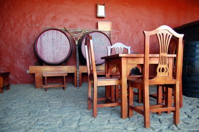 Platz nehmen für ein Glas Wein