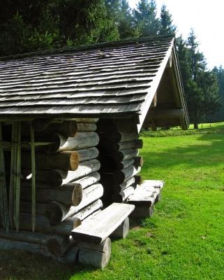 Schutzhütte im Allgäu