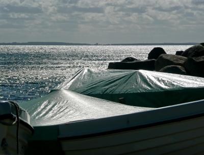 Boote im Gegenlicht